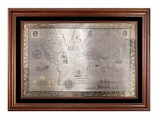 Franklin Mint Royal Geographical Society Map of the World 1976 Great Condition!