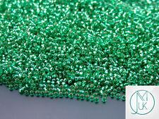 100g 24B Silver Lined Dark Peridot Toho Seed Beads 15/0 1.5mm WHOLESALE