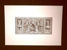 Litografia Natale Natività Breviarum Romanum del 1943 Ristampa