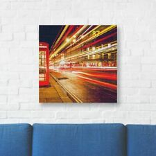 """London Printed Canvas Art 16"""" (40cm) x 16"""" (40cm) Beautiful For Home"""