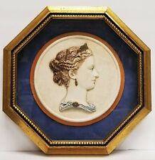 New listing Vintage Neoclassical Relief Gilt Octagon Framed Grand Tour Style Wall Plaque