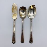 Holmes & Edwards Bright Future Butter Knife Sugar Spoon Jelly Server Silverplate