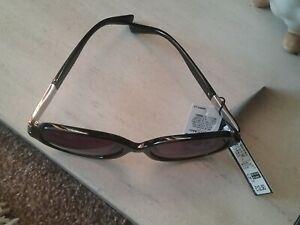 Ladies Filter 3 Sunglasses 100% Uv Protection Black Rhinestone Trim Bnwt M&S