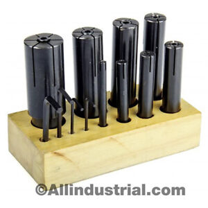 """All Industrial 8 Pc, High Precision Expanding Arbor Set Mandrels 1/4"""" to 1-1/4"""""""