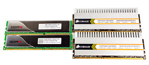 6GB DDR3 1333 Ram Lot Of 4 Sticks Corsair 2x1GB & Avexir 2x2GB Lot Of 4 Chips