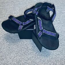 TEVA STORM #1536 Women's Sport Sandals Size 8 Purple/Black Canvas Good Condition