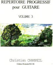 Répertoire progressif pour guitare volume 3