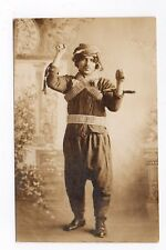 RPPC,Studio,Man in Ethnic Dress,Costume,Uniform,Clothing,Gay Interest