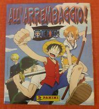 Album Panini ALL'ARREMBAGGIO ONE PIECE (2002), completo con poster e speciali
