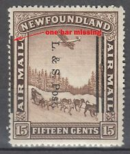 Newfoundland No. 211ii Shifted Overprint variety Mint LH VF