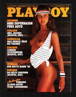 Playboy 9/1984 September NATALIE UHER,CARMEN LECHTENBRINK + STICKER