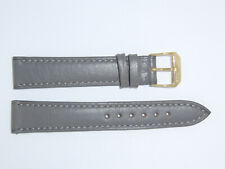 "RIOS1931 Genuine Russian Leather Watch band strap 18 mm Stone Grey ""Samara"""