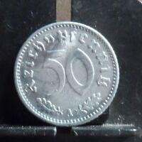 CIRCULATED 1935A 50 PFENNIG GERMAN COIN (122218)1.....FREE DOMESTIC SHIPPING!