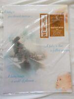vtg American Greetings Laurel Baby Shower Gift Wrap USA Made Mom Infant Rocker