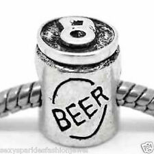 """Beer Can"" Bead Charm for European Snake Chain Charm Bracelets"