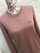 Burberry Brit Pure Cashmere Sweater Medium Millennial Pink Delicate