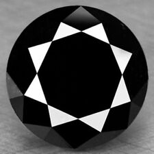 0.70 Ct 4 Mm Natural Fancy Black Color Round Loose Diamond For Rings/Earrings