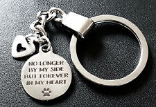 Pet Loss Memorial Keyring No Longer By My Side But Forever in My Heart Charm L01