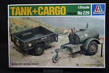 XZ131 ITALERI 1/35 maquette 229 Tank + Cargo Trailers citerne remroque