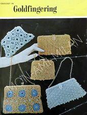 Vintage patrón de ganchillo para hacer bolsas de noche retro Bolsos de mano Carteras 5 Diseños