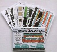 Micromodels SET TR.1. TRAMS Micro New Models card model kit