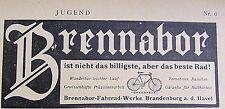 BRENNABOR nicht das billigste, aber das beste Rad Brandenburg/Havel Reklame 1905