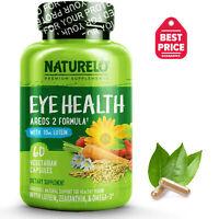 NATURELO Eye Health Vitamins – AREDS 2 Formula - 60 Capsules