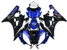 Injection Bodywork Fairing Kit Blue Black for Yamaha YZF600 YZF R6 2006 2007
