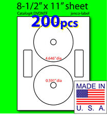 DVDNTF, 200 CD/DVD Labels Neato Compatible Full Face