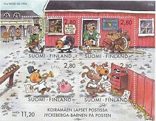 Finland 1994 MNH Sheet - Dog Hill Kids Cartoon by Mauri Kunnas - Scott 946