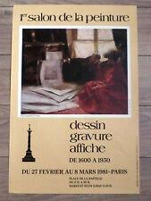 DESSIN GRAVURE de 1600 À 1930 Affiche 1er Salon de la peinture Paris Poster