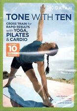 TONE WITH TEN DVD Rodney Yee in Lower Upper Total Cardio Toning pilates yoga zen