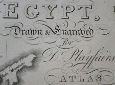 1821 LARGE MAP EGYPT & ANCIENT AEGYPTUS ANTIQUA HAND COLOURED  23 x 19 inches