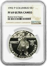 1992 P $1 Christopher Columbus Quincentenary Commem Silver Dollar NGC PF69 UC