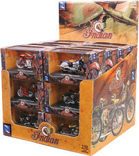 NEW-RAY DIE-CAST REPLICA 24/PC INDIAN BIKE ASSTD 1:32