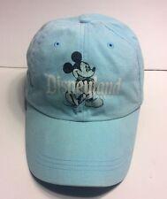 Disney Mickey Mouse Light Blue Cap Hat Adult Adjustable 100% Cotton Nice