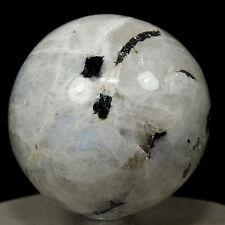 "2.2"" Rainbow Moonstone Sphere Natural Feldspar Mineral Ball Crystal Stone India"