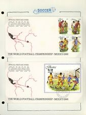 GHANA Specialized SOCCER FOOTBALL Album Page Lot #190 - SEE SCAN - $$$