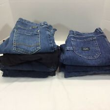 7 Pairs Wrangler Youth Boys Jeans-Dark Denim Adjustable Waist 14 Husky Straight