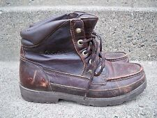 Vintage Cabela's Men's Work Hunting Work Motorcycle Brown Leather Boots Size 9.5