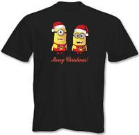Merry Christmas! Mens Funny Minions T-Shirt Minion Xmas Present 3XL 4XL 5XL