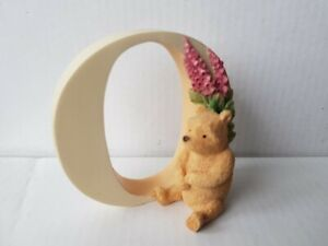 Classic Pooh  - Letter O Figurine. Pooh with foxgloves  (Winnie The Pooh)