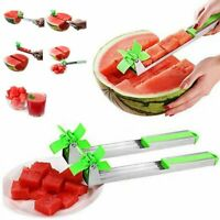 New Watermelon Cutter Windmill Shape Plastic Slicer Cutting Tool Stainless Steel