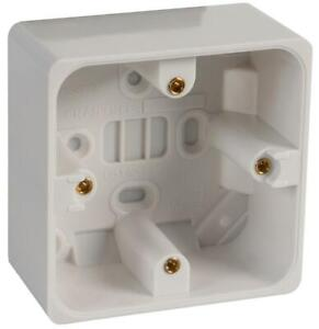 Crabtree 1 Gang 44mm Moulded Box Surface Mount  9041