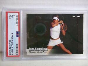 2003 Netpro Anna Kournikova Rookie PSA NM 7 Tennis Card #10 ATP