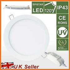 LED Round Panel Recessed Ceiling Down Fluroscent Light,14W Day WHITE Lamp Bulb