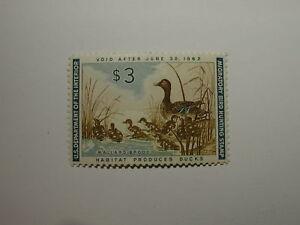 U.S. Stamp Scott #RW28 US Department of Interior $3 Habitat Produces Ducks - ...