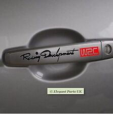 Car-Styling Adesivi 4Pcs/set RIFLETTENTE AUTO WRC AUTO Maniglia Porta Manopola Adesivi