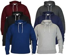 Mens Boys Hoody Sweatshirt Plain American Hooded Fleece Pull Over Top