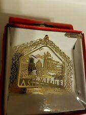 Asheville  North Carolina  24k gold finish Brass Ornament